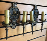 "Romantic Revival ""Viking"" Sconces-Pair [PRNOV19-59]"
