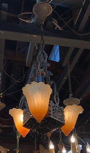*COMING SOON* Art Deco 3 Light Slip Shade FIxture