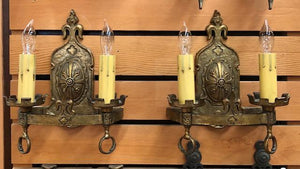 *COMING SOON* Spanish Revival Double Sconces-Pair