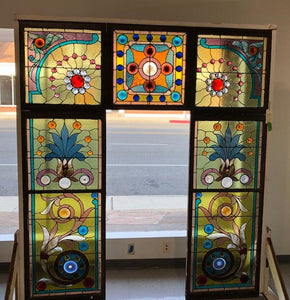 5 Panel Stained Glass Window Set [JAN20-5]