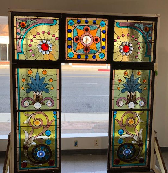 ***SOLD*** 5 Panel Stained Glass Window Set [JAN20-5]