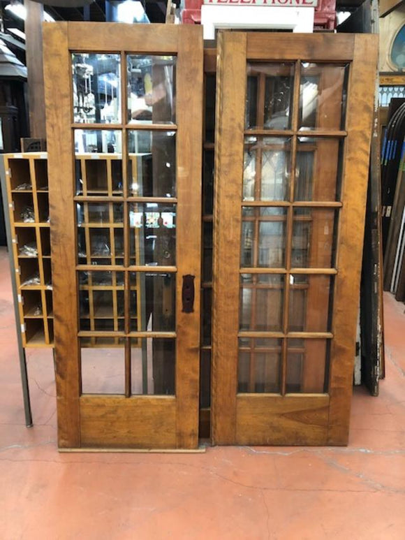 10 Light Mahogany French Doors w/Beveled Glass [PRNOV19-32]