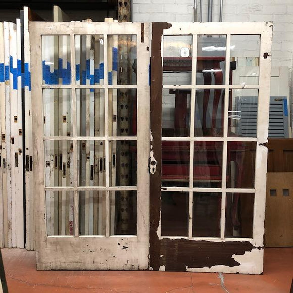 12 Light Redwood French Doors-Pair [MAR20-14]