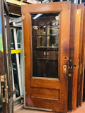 *SOLD*1 Light Entry Door w/Beveled Glass & Egg & Dart Trim [PRKS-79]