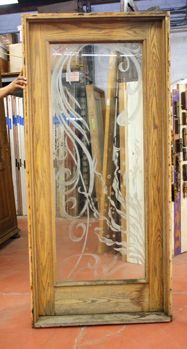 Etched Glass Entry Door with Jamb [jp15-147]