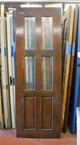Entry Door with Textured Glass [jp15-81]