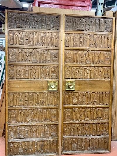 Pair of Mid-Century Entry Doors (DEC20-1)