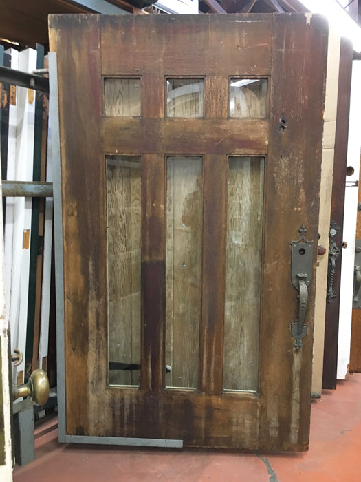 Arts & Crafts Entry Door with Beveled Glass [NOV17-16]