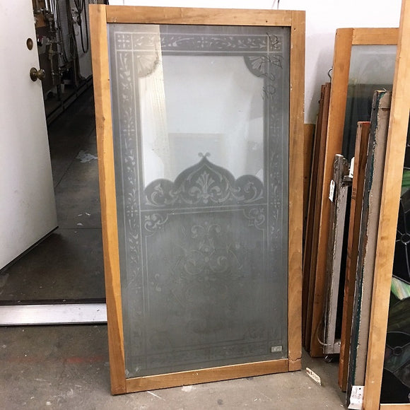 Etched & Embossed Glass Window [OC-32]