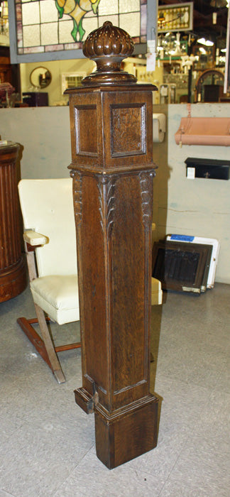 Oak Newel Post, Restored [Z-PR393]