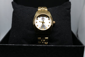 Luxury Lady Gold Watches Women Waterproof Casual Golden Dress Rhinestone Female Wristwatch Fashion Retro Clock