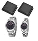 Original Ticarto black stainless steel couple waterproof pointer fashion pair watch