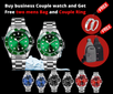 Buy business watch and get free Two bag and Ring couple