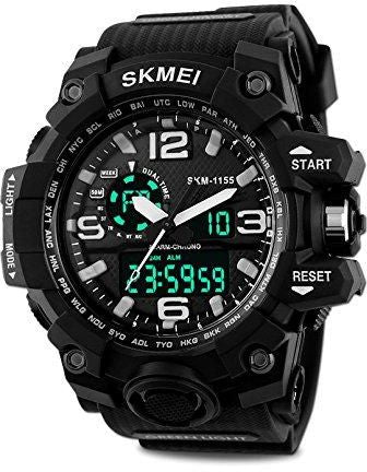 Skmei Silicone Strap Men's Watch AD1155 (Black)  ⭐⭐⭐⭐⭐