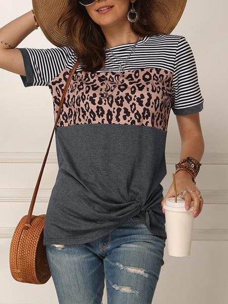 striped-leopard-print-short-sleeve-tops-ppp9896