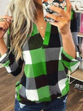 plaid-tunic-v-neck-casual-tops-ZSY8718