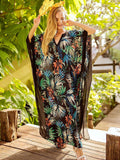bat-sleeve-floral-loose-long-dress