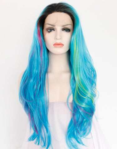 colorful-ombre-blue-synthetic-lace-front-wigs