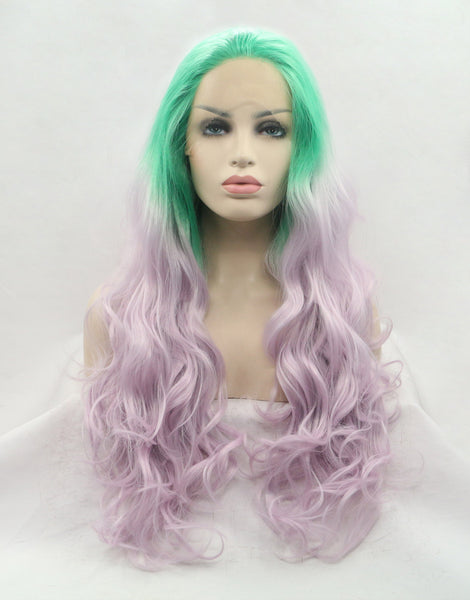 green-ombre-synthetic-lace-front-wigs