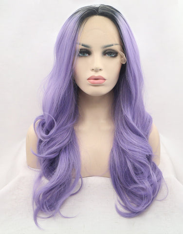 purple-ombre-synthetic-lace-front-wigs