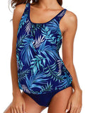 Tropical Print Tank Tankini with Panty