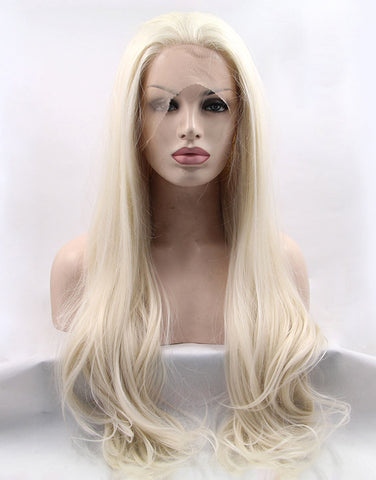 white-blonde-synthetic-lace-front-wigs-SLFW001