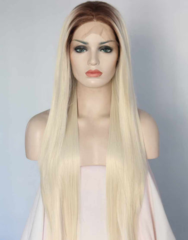 white-blonde-synthetic-lace-front-wigs