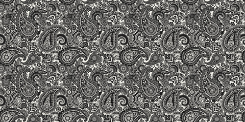 Pickguard Sheet Black & White Paisley