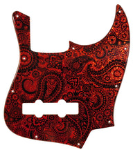 Bass Mods K534 Pickguard Red Sparkle Paisley