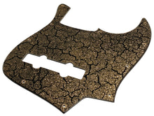 Bass Mods K534 Pickguard Black Crackle Gold Sparkle