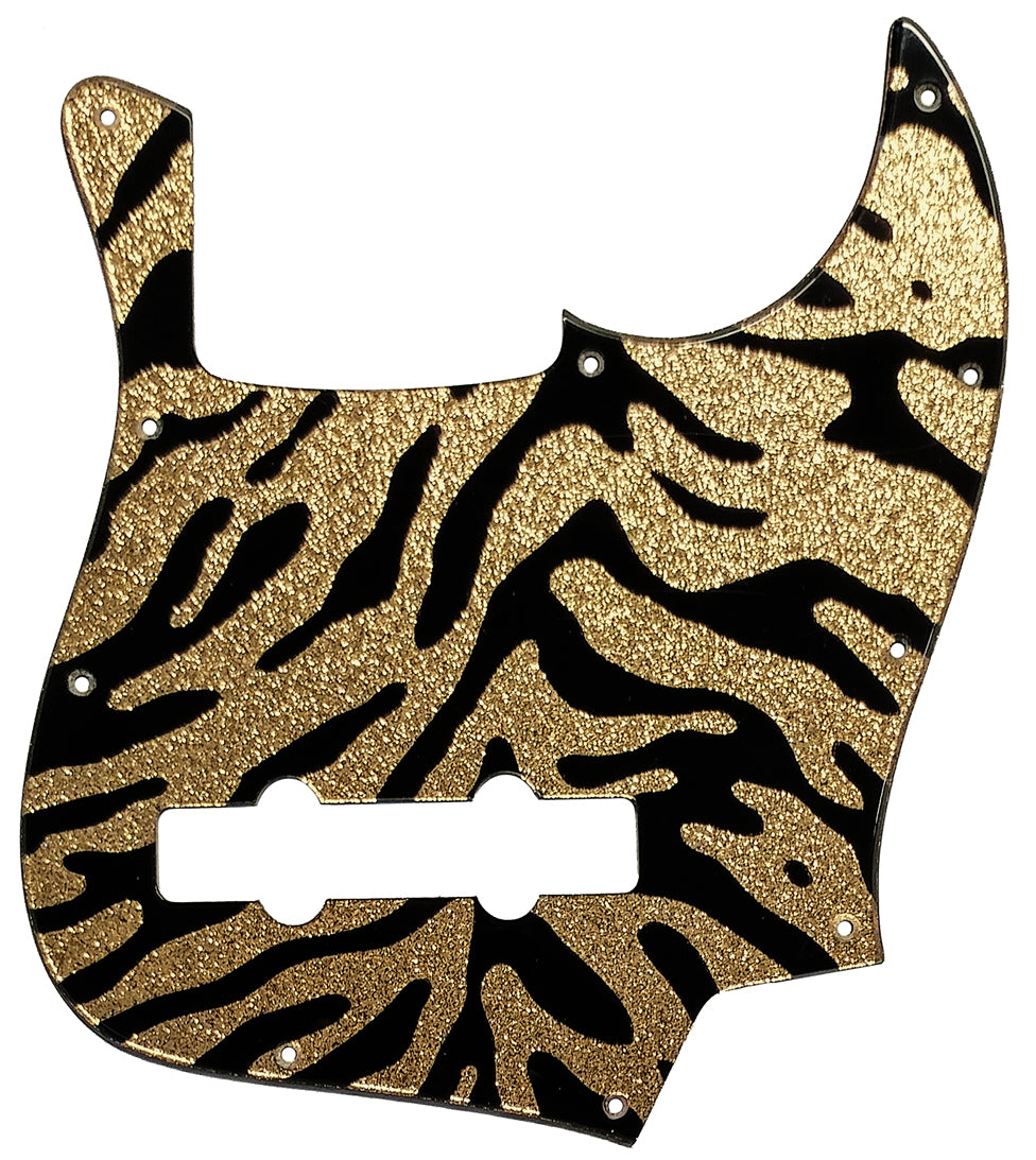 Fender Jazz Bass Pickguard Gold Sparkle Tiger