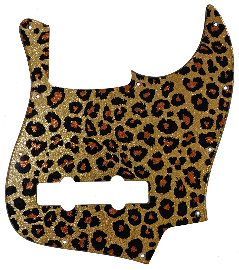 Bass Mods K534 Pickguard Leopard Gold Sparkle
