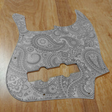 Fender Jazz Bass Pickguard Matte White Paisley