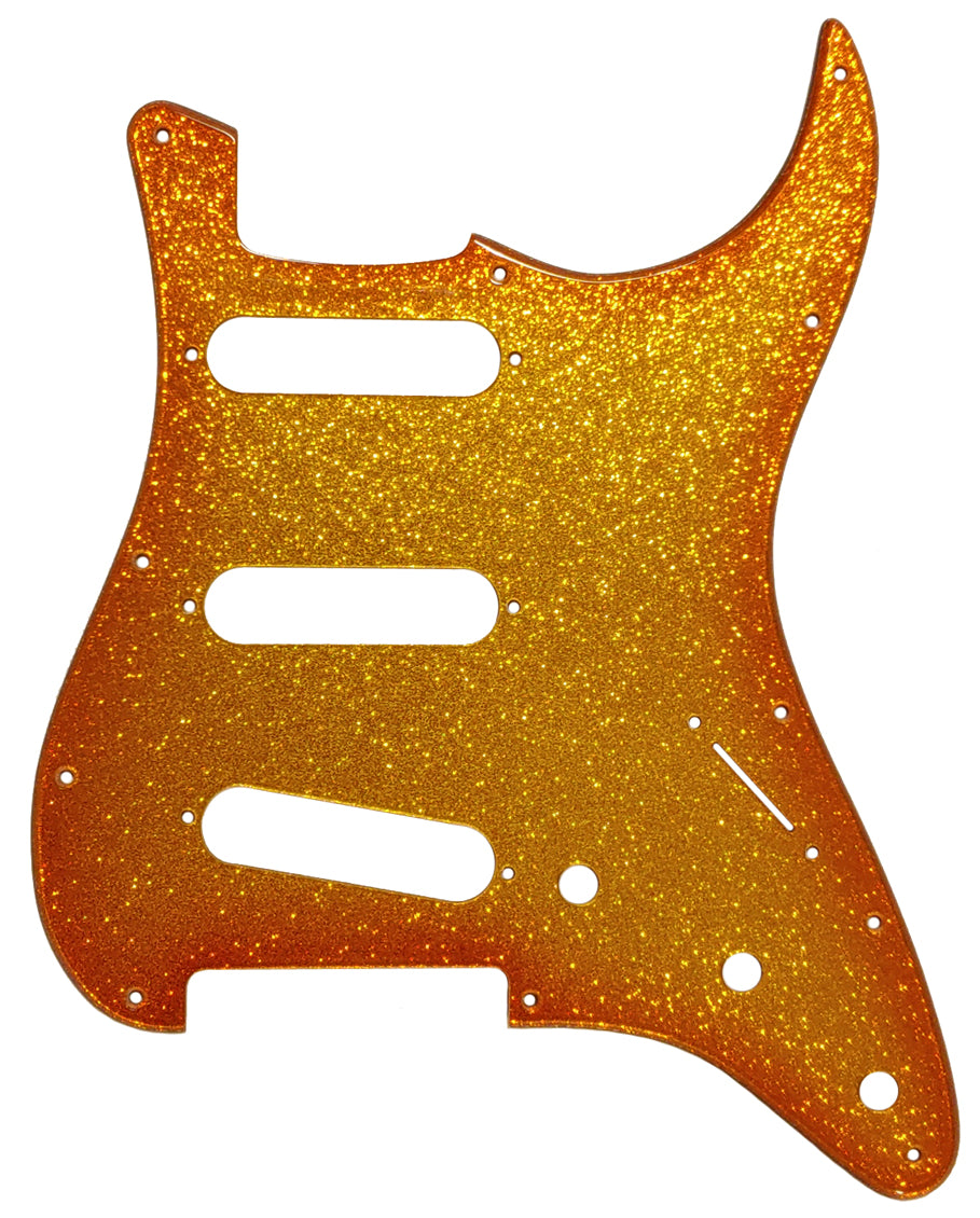 Fender Stratocaster Orange Burst Gold Sparkle Pickguard
