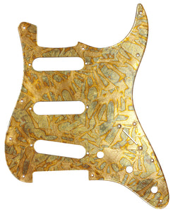Fender Stratocaster Variegated Gold Leaf Pickguard