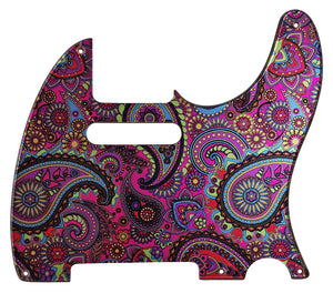 Fender Telecaster Pickguard Psychedelic Paisley
