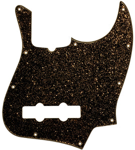 Fender Jazz Bass Pickguard Black Gold Sparkle