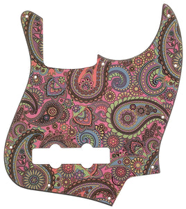 Fender Jazz Bass Pickguard Psychedelic Paisley