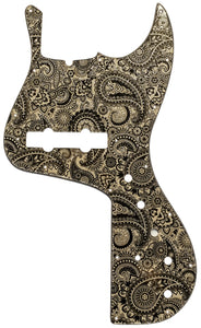 Fender Jazz Marcus Miller Bass Pickguard Cream Sparkle Paisley