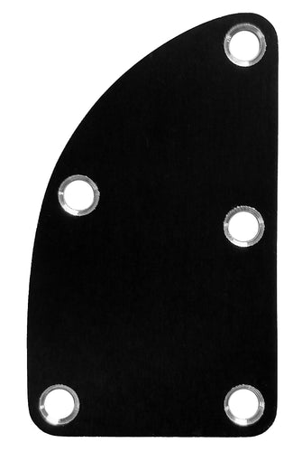 Neck Plate Black Anodized Aluminum Deluxe
