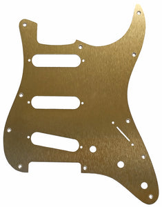 Fender Stratocaster Anodized Gold Aluminum Pickguard