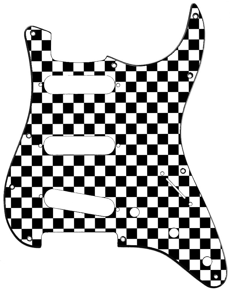 Fender Stratocaster Checker Board Pickguard