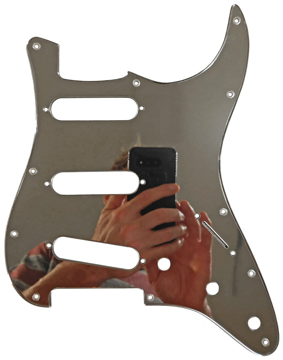 Fender Stratocaster Chrome Mirror Pickguard