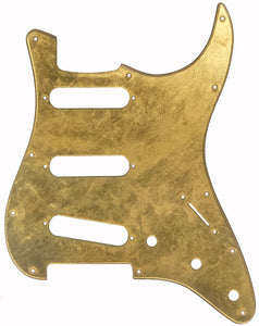Fender Stratocaster Genuine 22k Gold Leaf Pickguard