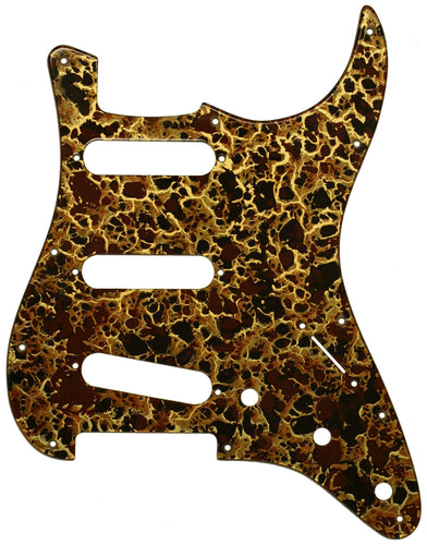 Fender Stratocaster Gold Acrylic Shell Pickguard