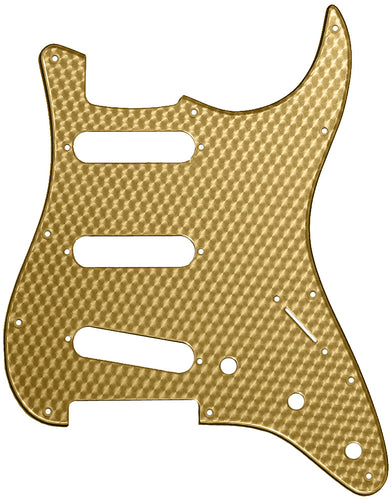 Fender Stratocaster Gold Small Engine Turn Pickguard