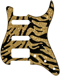Fender Stratocaster Gold Sparkle Tiger Pickguard