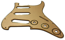 Fender Stratocaster Pickguard Gold with Gold Plated Borders