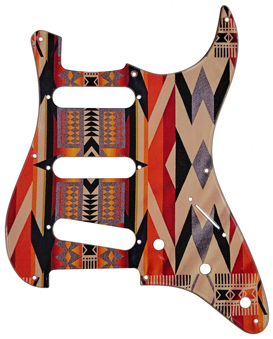 Fender Stratocaster Pickguard American Indian Blanket