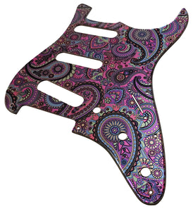 Fender Stratocaster Psychedelic Paisley Metallic Pickguard